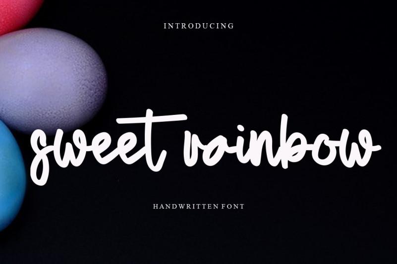Sweet Rainbow Handwritten Font