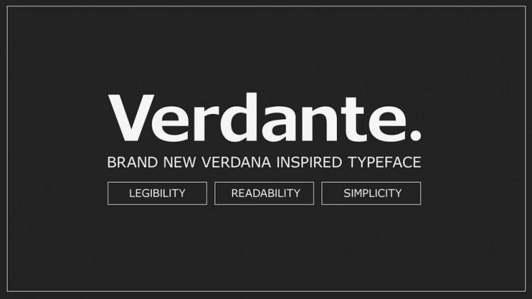 Verdante Sans Serif Font
