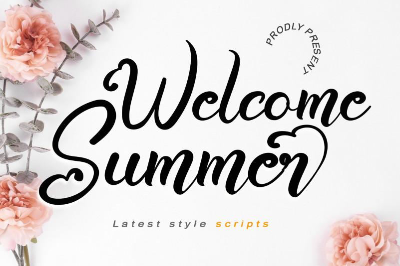 Welcome Summer Script Font