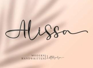 Alissa Calligraphy Font