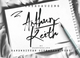 Arthur Keith Brush Font