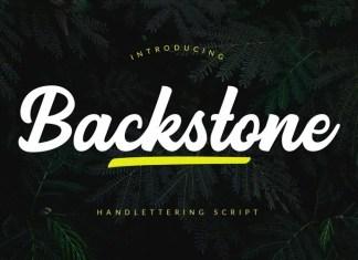 Backstone Bold Script Font