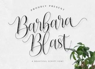 Barbara Blast Calligraphy Font
