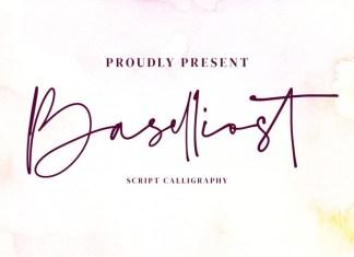 Baselliost Handwritten Font