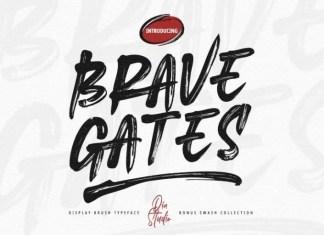 Brave Gates Brush Font