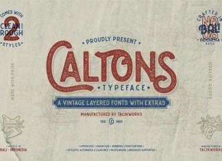 Caltons Display Font