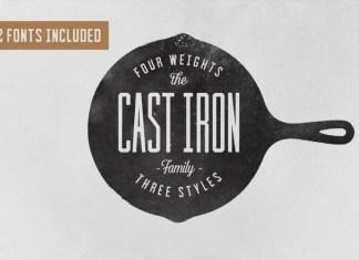Cast Iron Display Font