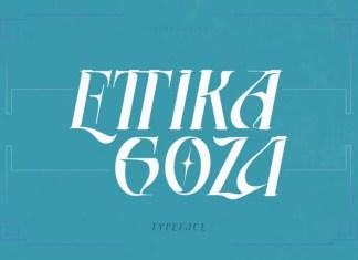 Ettika Goza Display Font