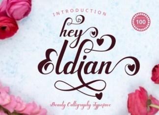Hey Eldian Calligraphy Font