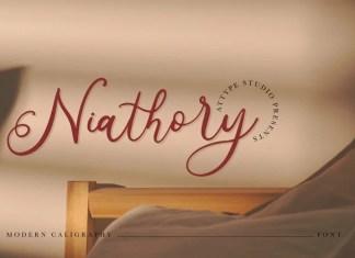 Niathory Calligraphy Font