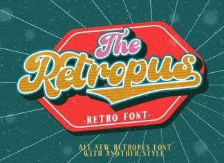 Retropus Script Font