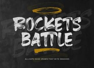 Rockets Battle Brush Font