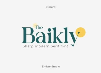 The Baikly Serif Font