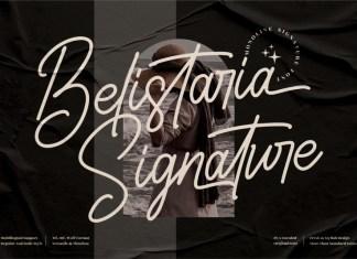 Belistaria Signature Script Font