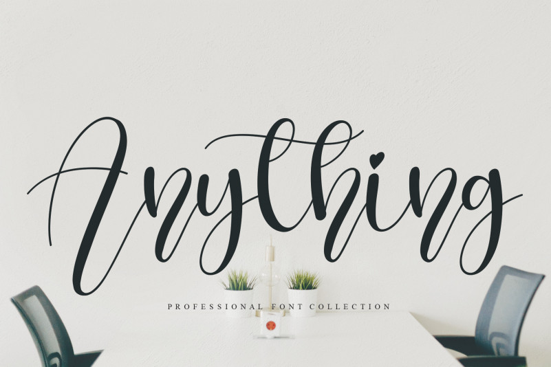 Anything Calligraphy Font