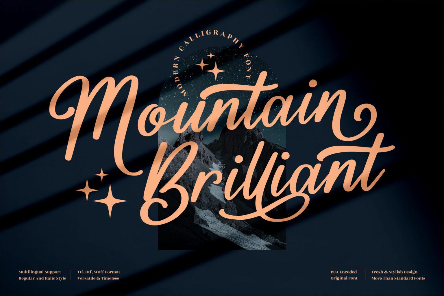 Mountain Brilliant Script Font