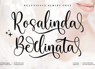 Rosalinda Berlinata Calligraphy Font
