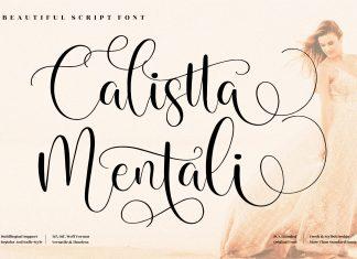Calistta Mentali Calligraphy Font