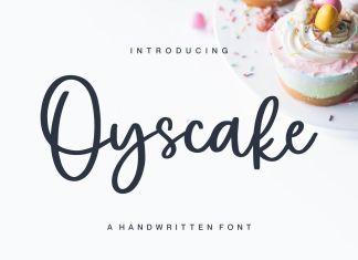 Oyscake Script Font