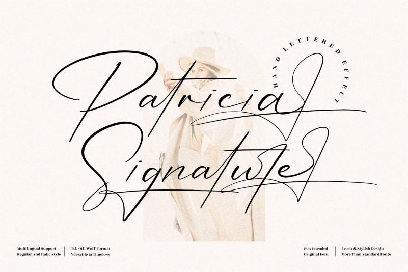 Patricia Signature Script Font