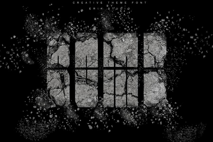 Bomb Display Font