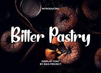 Bitter Pastry Brush Font