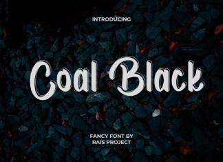 Coal Black Brush Font