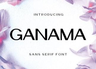 Ganama Sans Serif Font