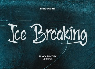 Ice Breaking Brush Font