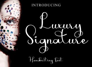 Luxury Signature Script Font
