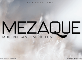 MEZAQUE Sans Serif Font