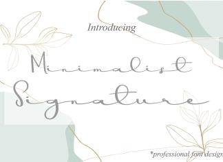 Minimalist Signature Script Font
