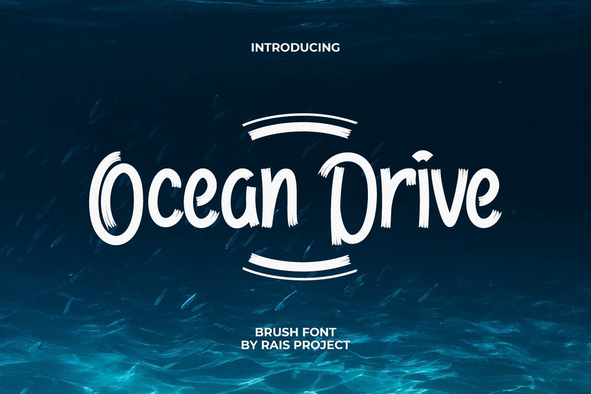 Ocean Drive Display Font