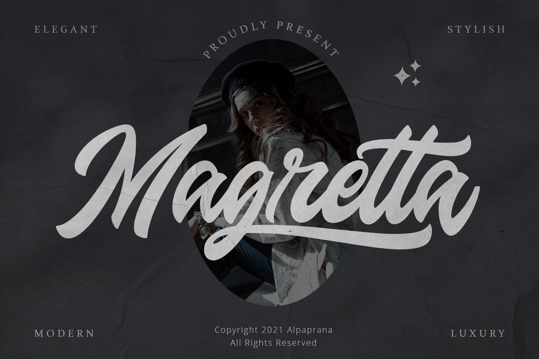 Magretta Bold Script Font