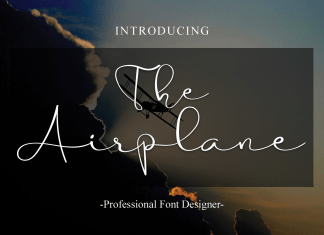 The Airplane Script Font