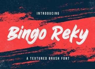 Bingo Reky Brush Font