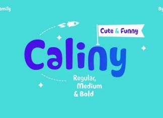 Caliny Display Font