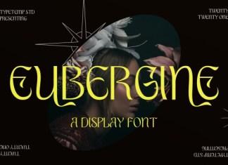 EUBERGINE Display Font