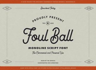 Foul Ball Script Font