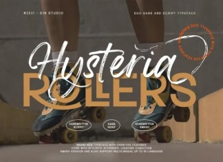 Hysteria Rollers Sans Serif Font