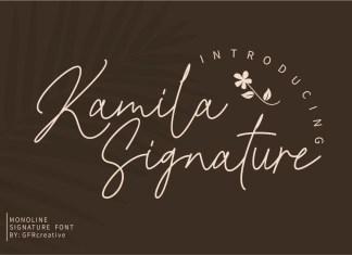 Kamila Signature Script Font
