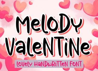 Melody Valentine Display Font