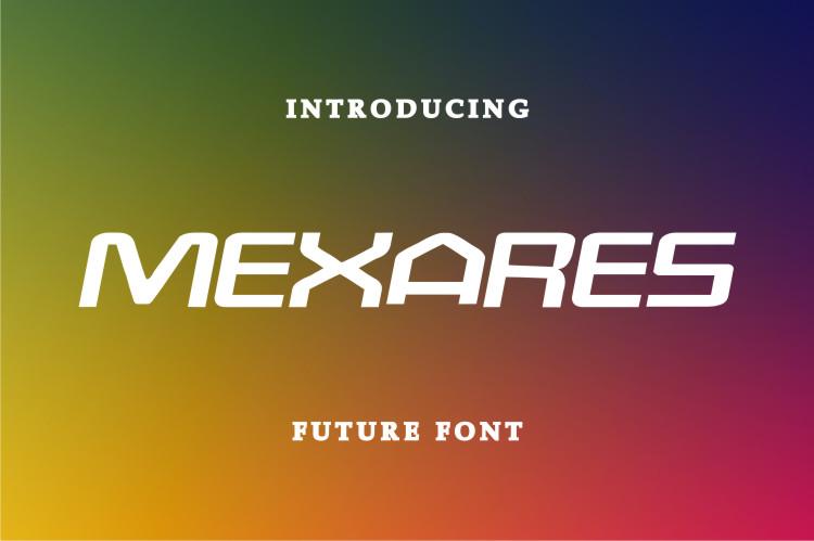 Mexares Display Font