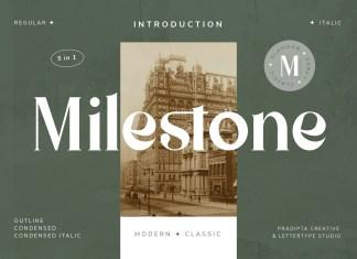 Milestone Serif Font