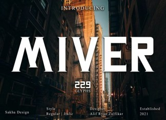 Miver Display Font