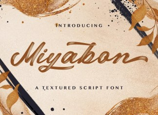 Miyabon Brush Font