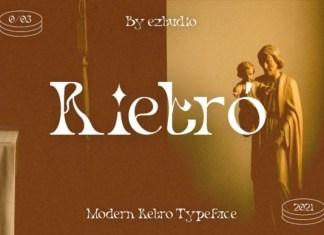 Rietro Serif Font