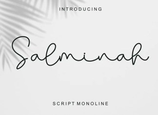 Salminah Script Font