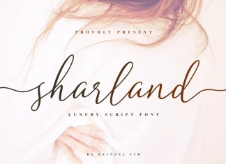 Sharland Calligraphy Font