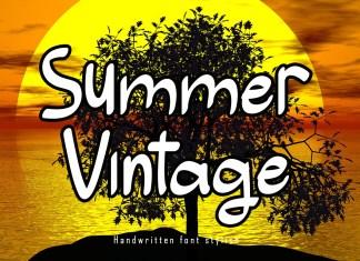 Summer Vintage Script Font